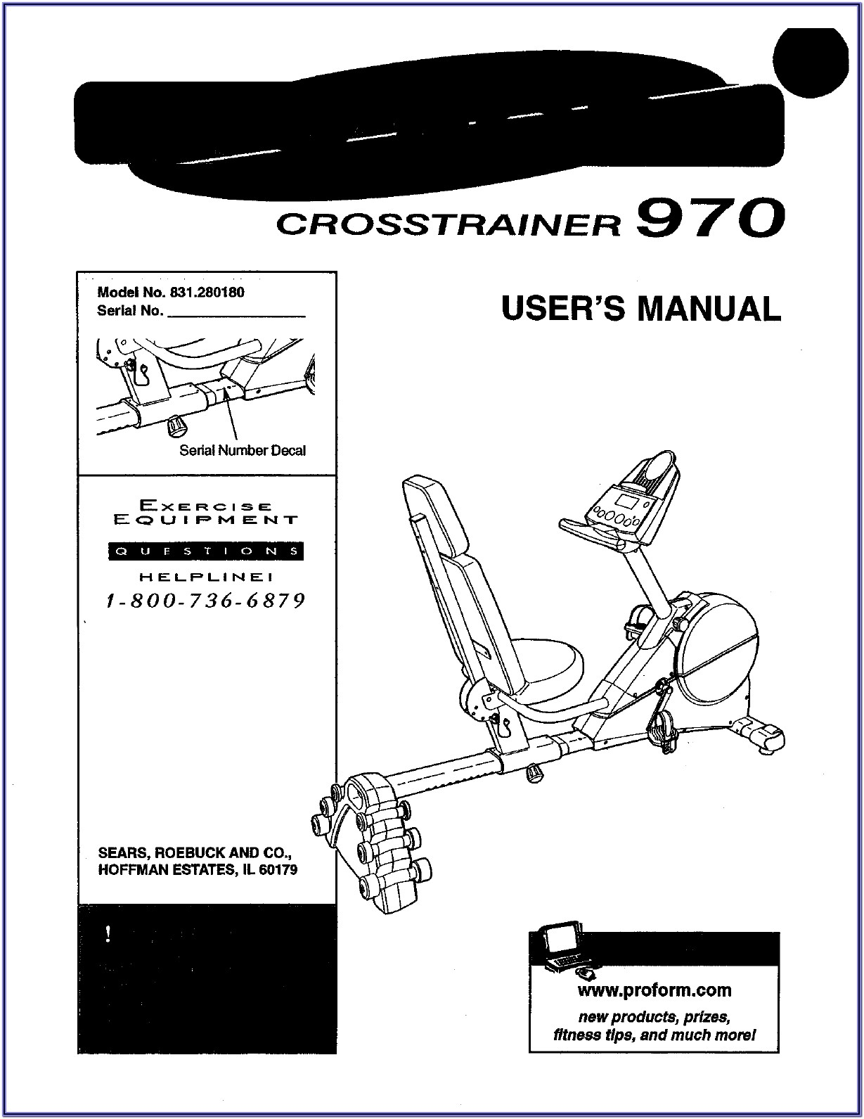 Proform Crosstrainer 970