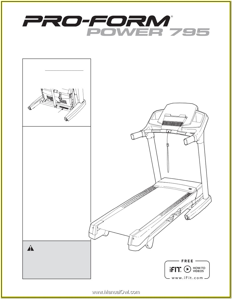 Proform Treadmill Manual