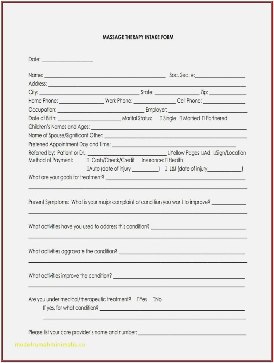 Psychotherapy Intake Forms