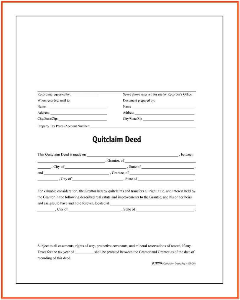 Quick Deed Form Texas