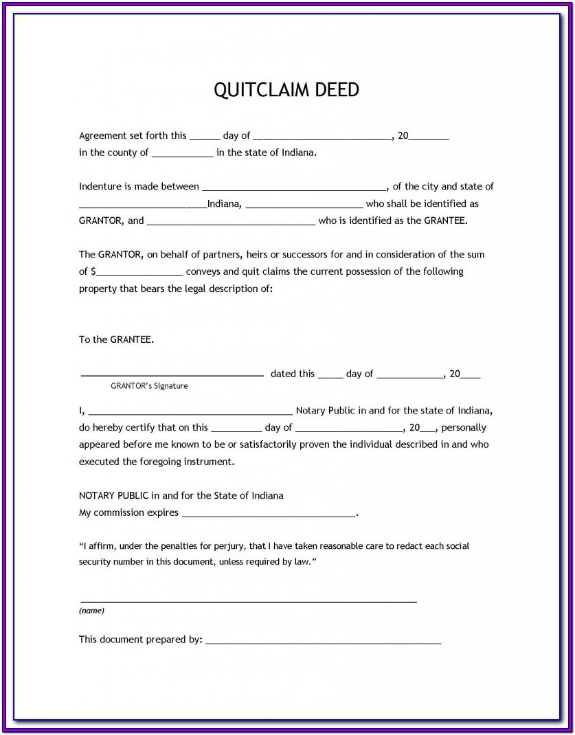 Quit Claim Deed Michigan Form Free