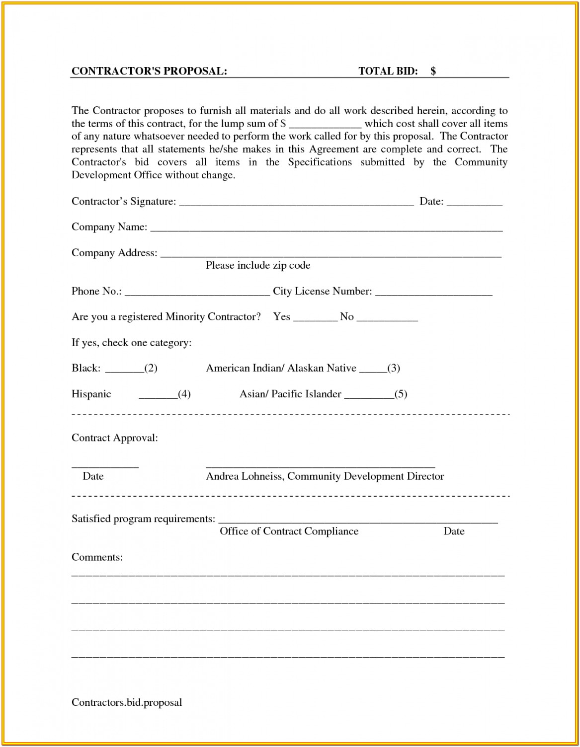 Roofing Proposal Forms