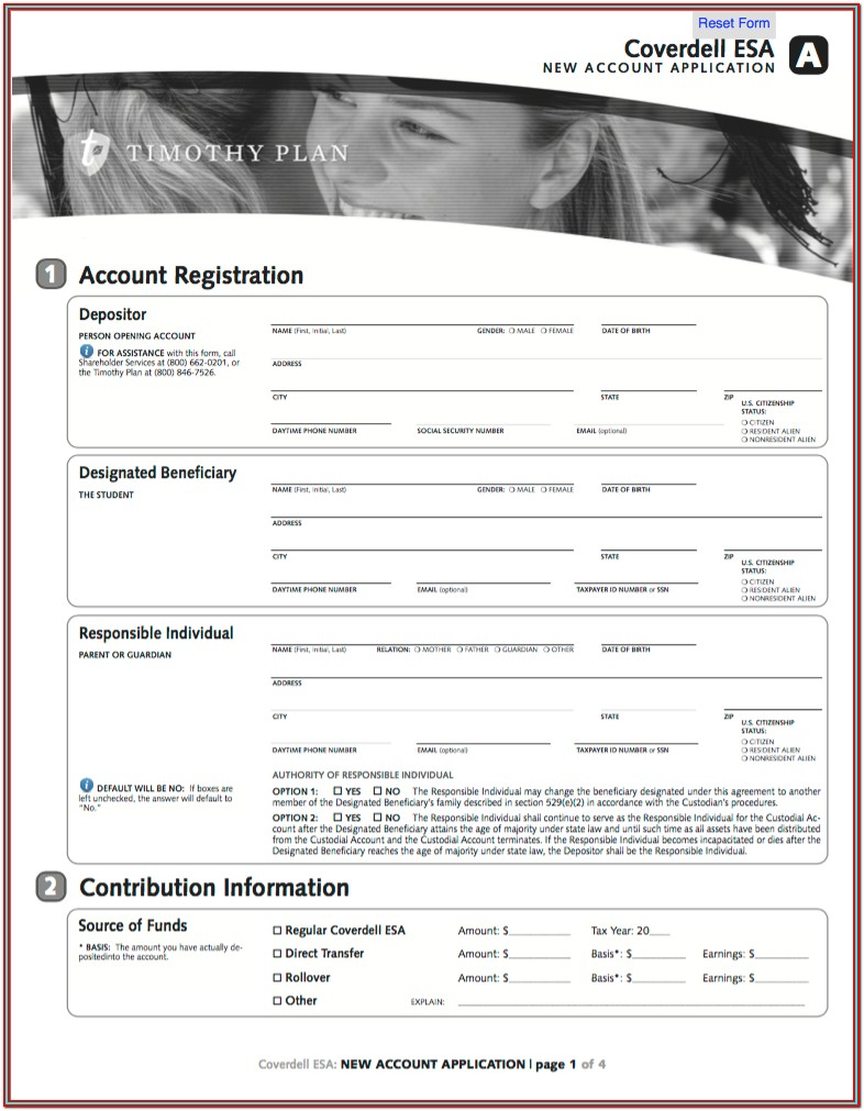 Roth Ira Application Form