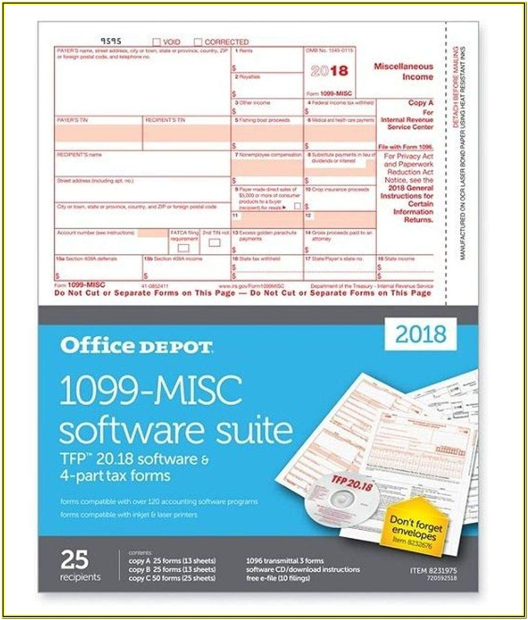 Scannable 1099 Misc Form