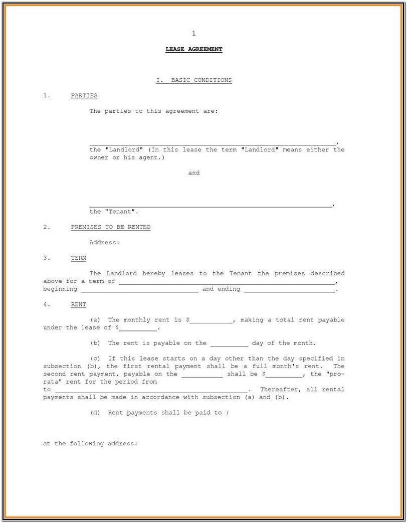 Simple Affidavit Form