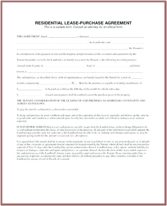 Simple Apartment Lease Form Pdf