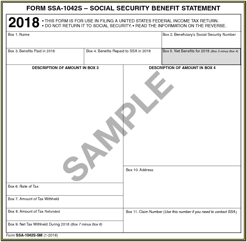 Social Security Tax Form 1099 For 2018