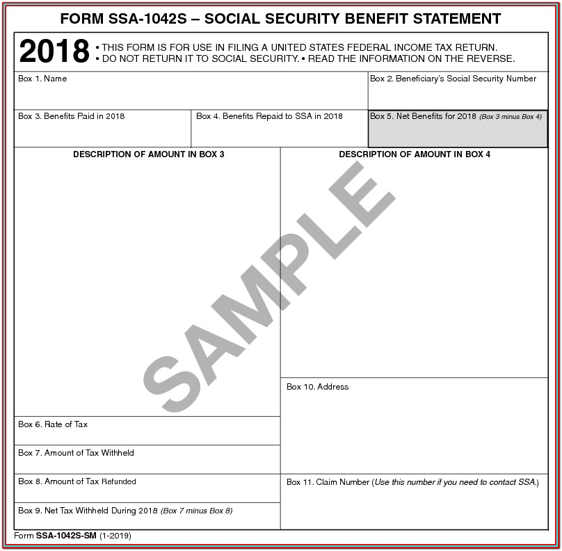 Ssi 1099 Form 2018