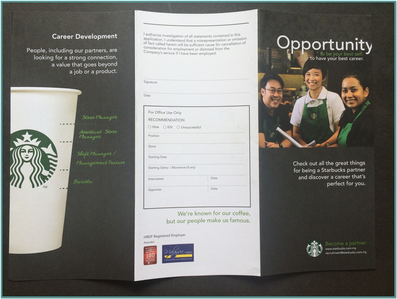 Starbuck Application Form