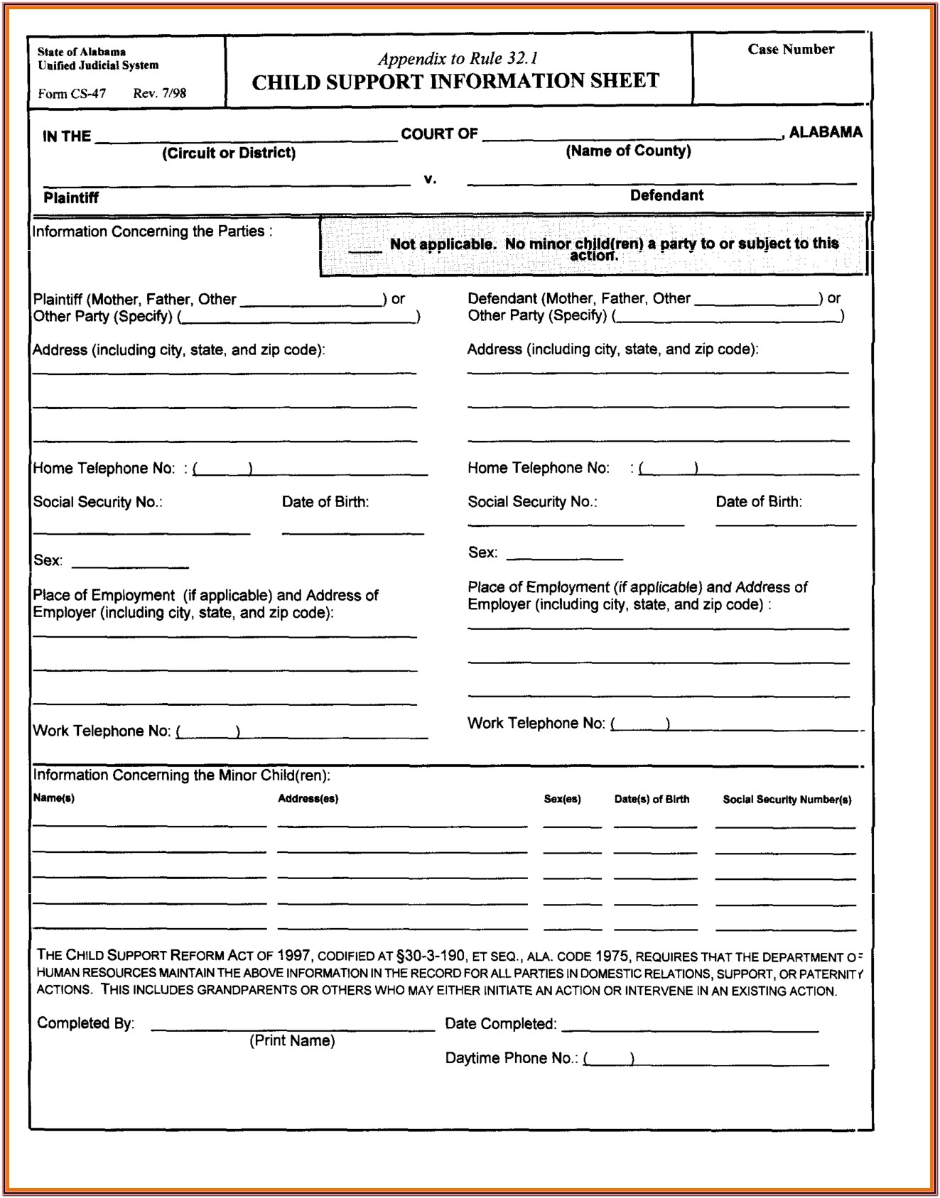 State Of Michigan Divorce Forms Free