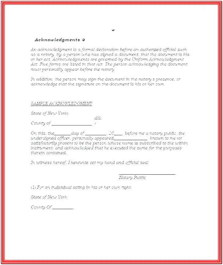 State Of Texas Notary Form