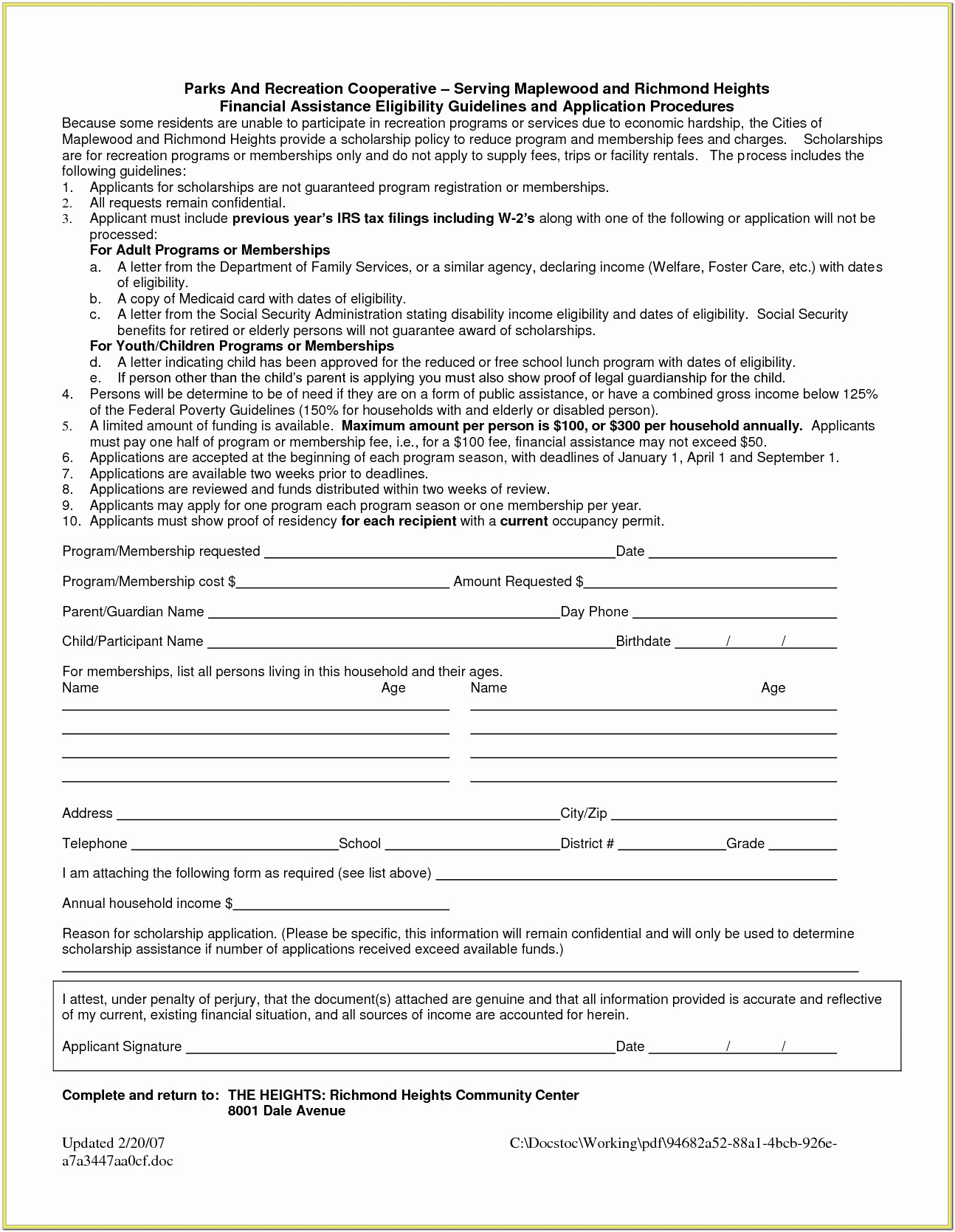 Temporary Legal Guardianship Form Florida