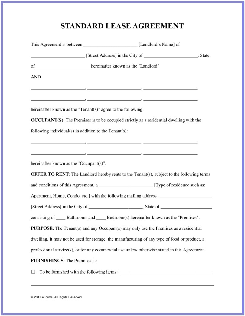 Tenancy Agreement Form Nz