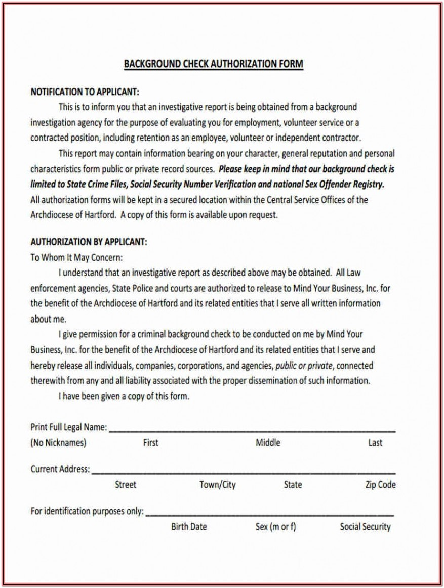 Tenant Credit Check Authorization Form California