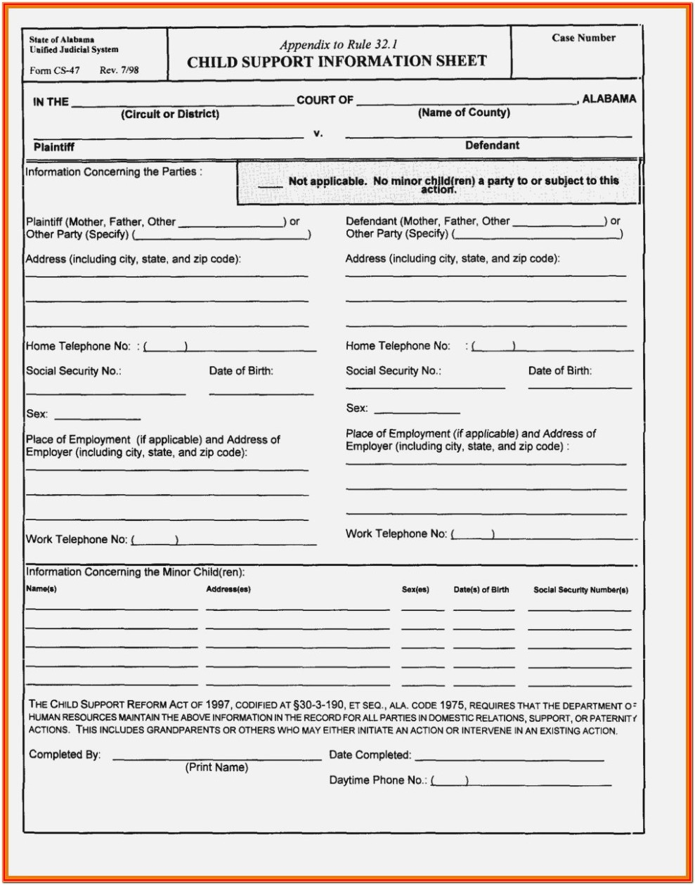 Tennessee Divorce Forms With Children