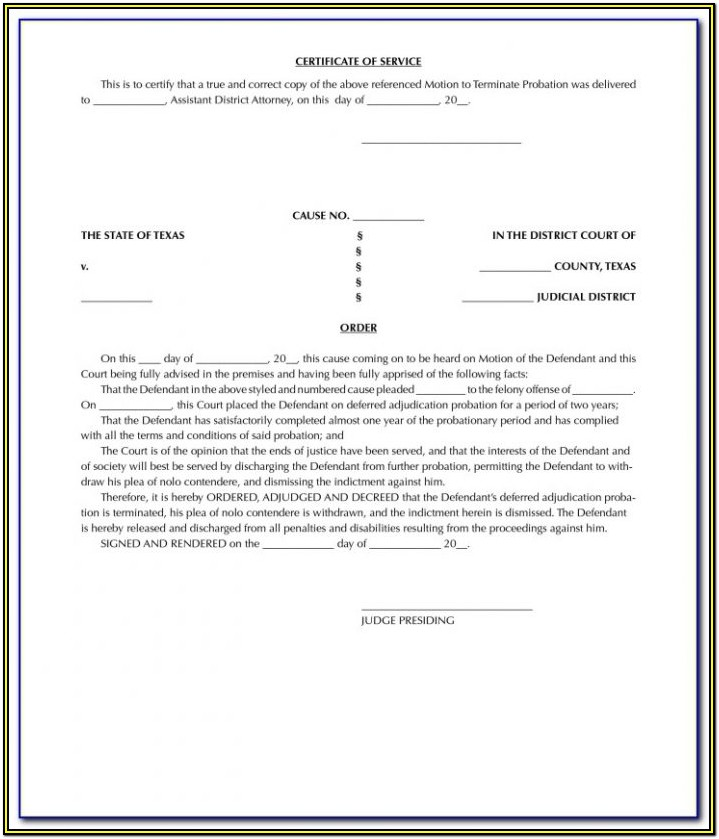 Texas Expungement Forms For Free