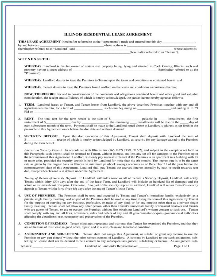 Texas Residential Lease Extension Form