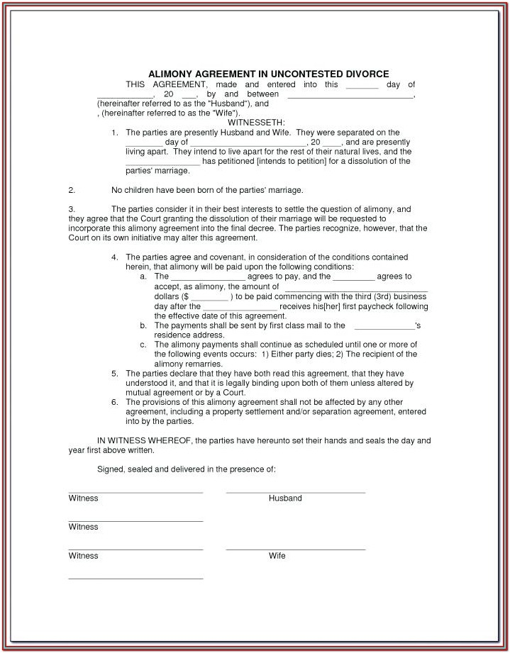 Uncontested Divorce Forms Georgia
