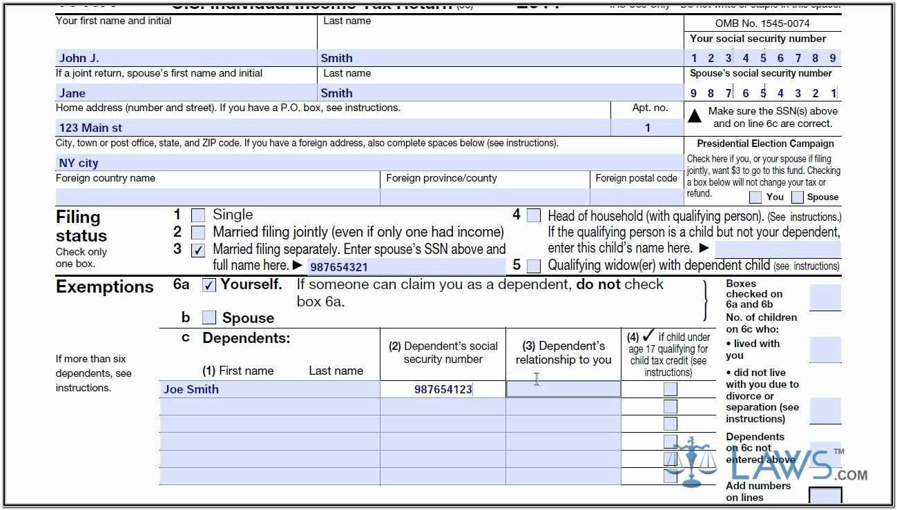 Us Tax Form 1040a