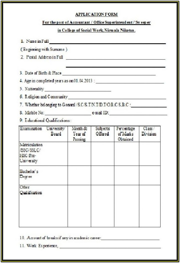 Usps Job Application Form