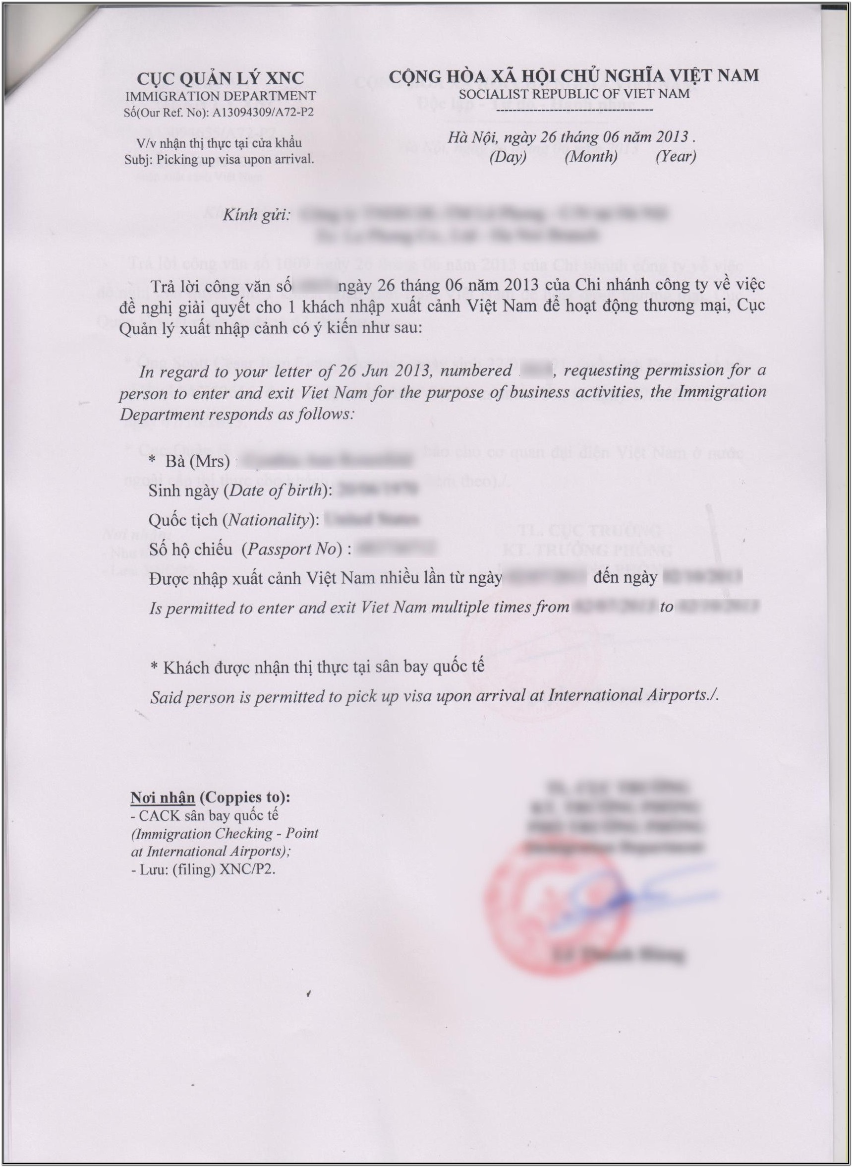 Vietnam Visa Application Form Download