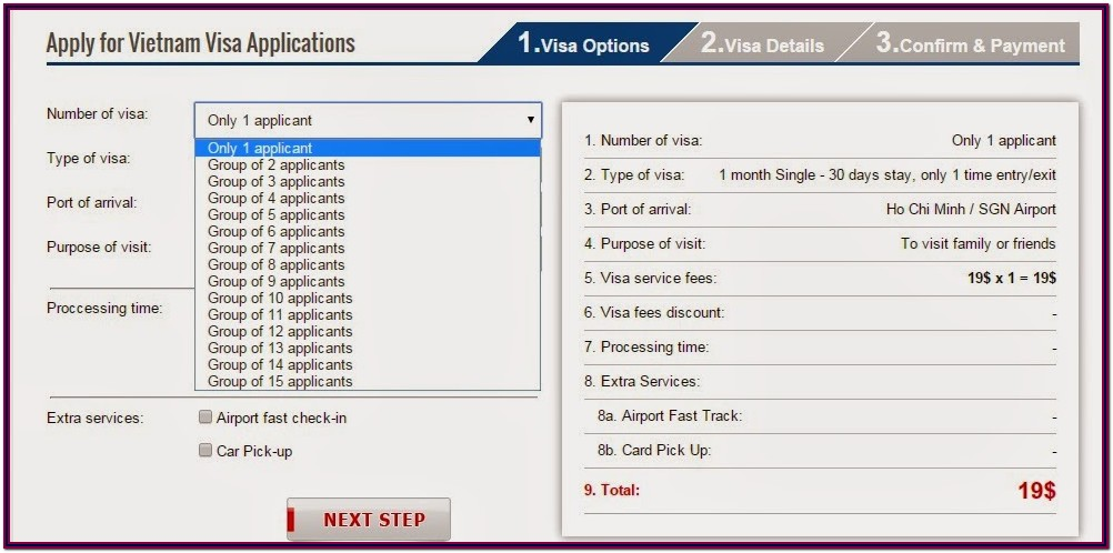 Vietnam Visa On Arrival Application Form