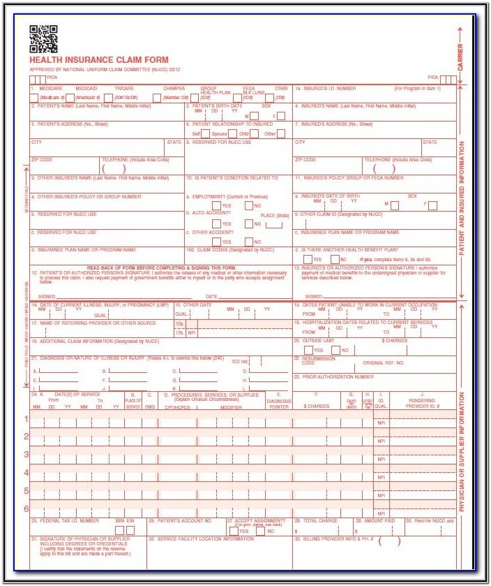 What Is Hcfa Form