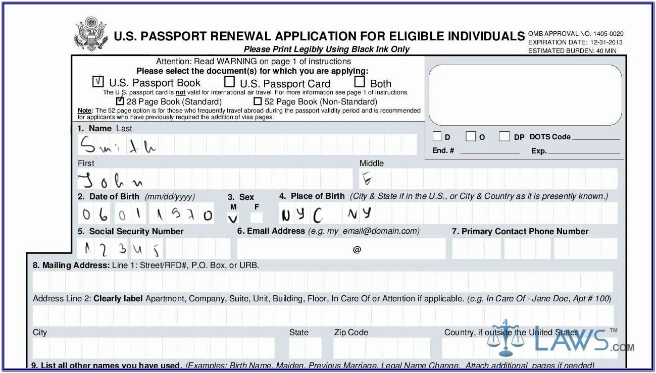Where To Get Passport Renewal Forms