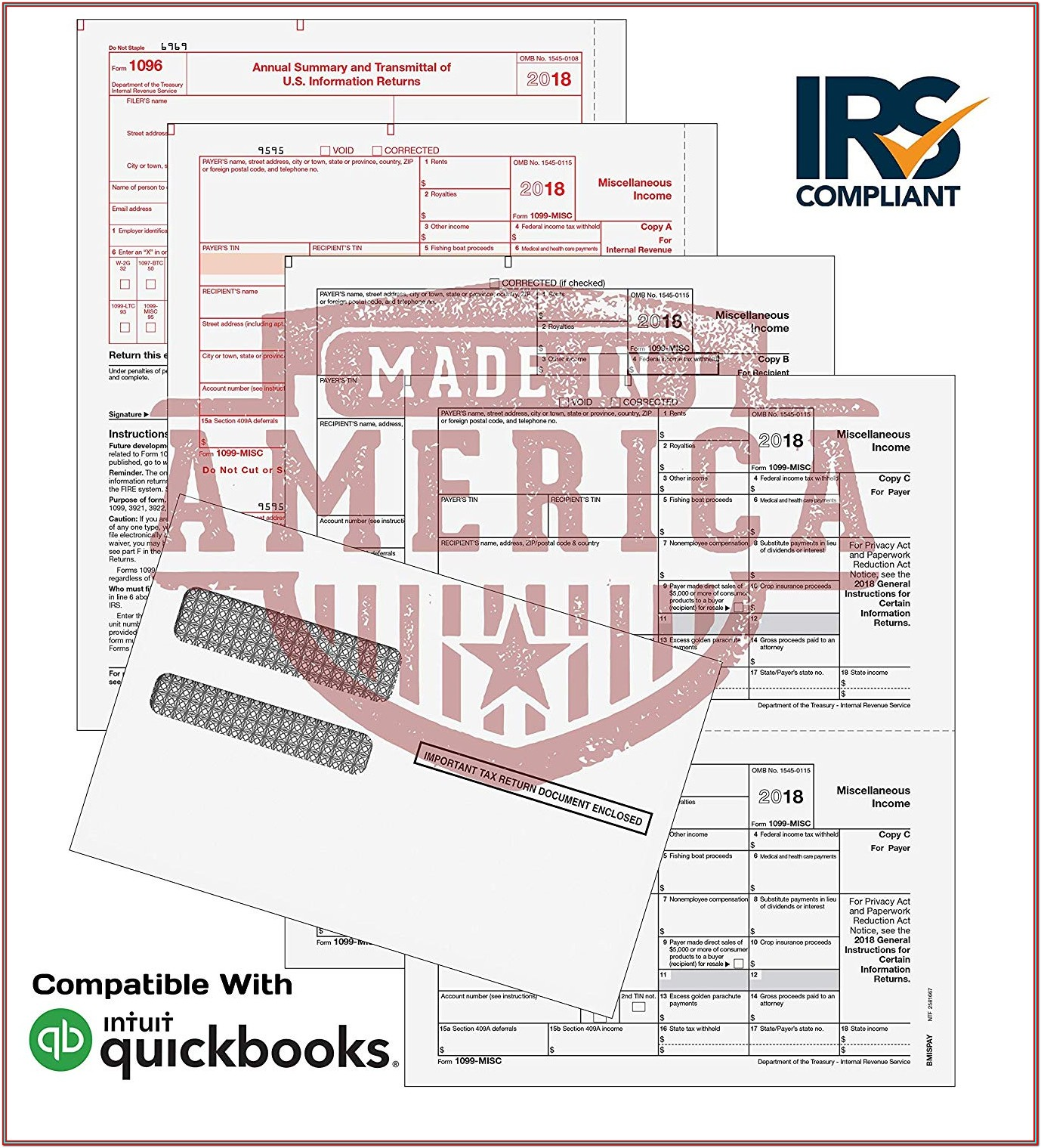 Where To Send 1099 Misc Forms Irs 2018