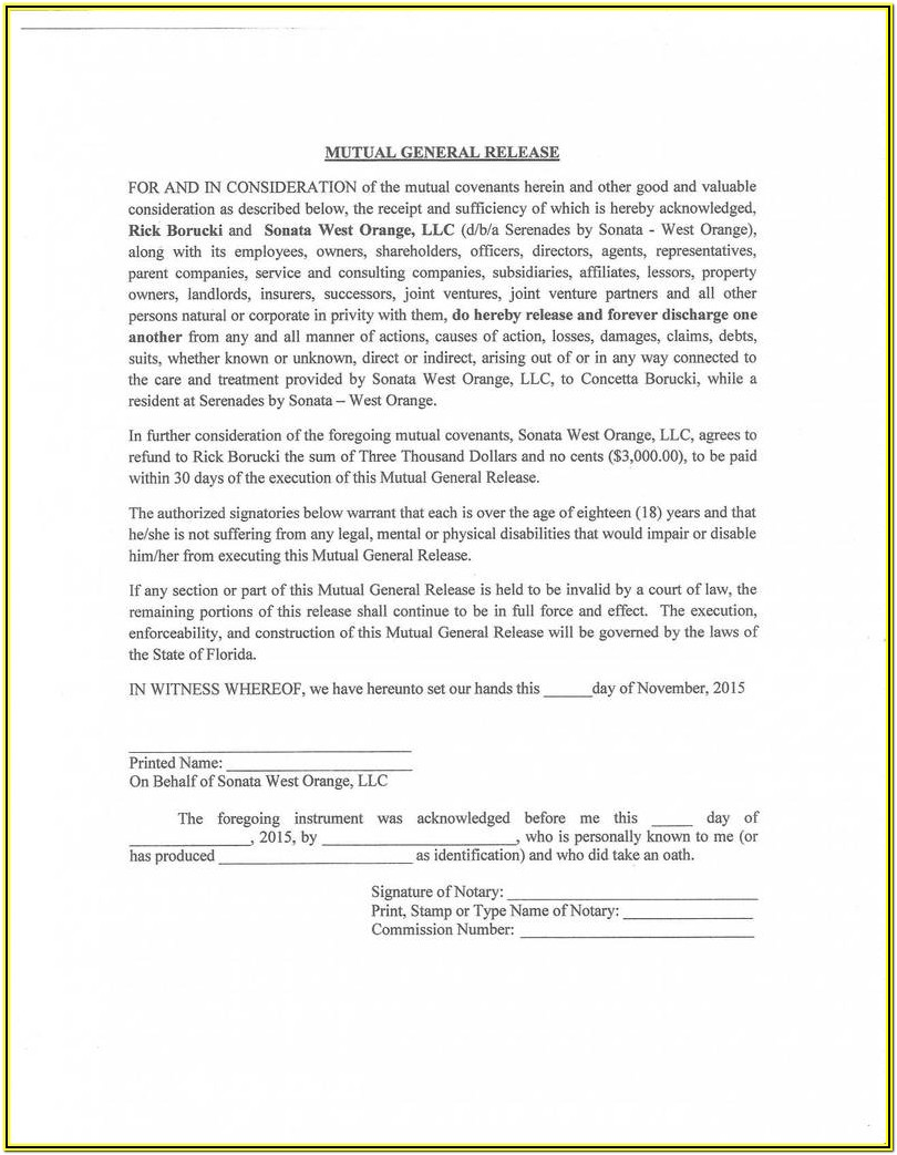 Workers Comp Release Form