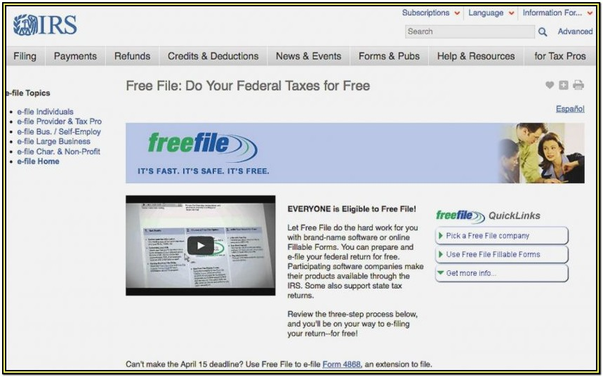 Www Irs Gov Free File Fillable Forms
