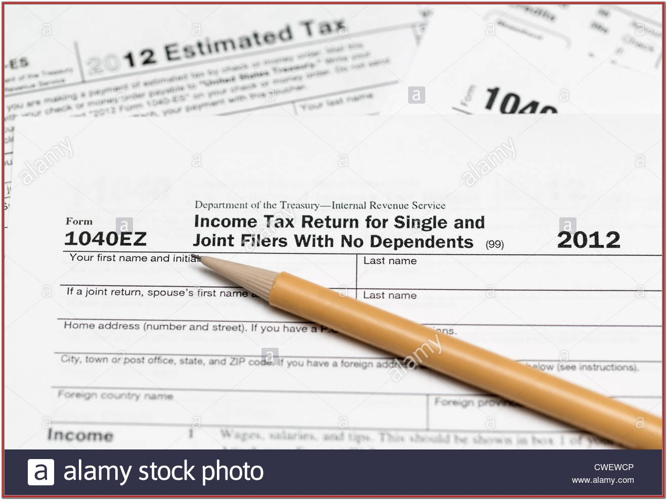 2012 Tax Return Form 1040ez