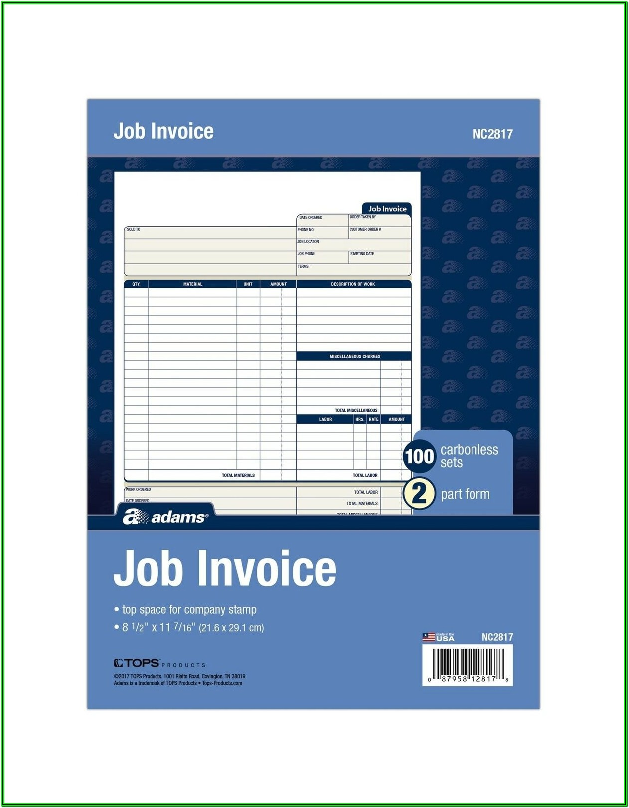 Adams Invoice Forms