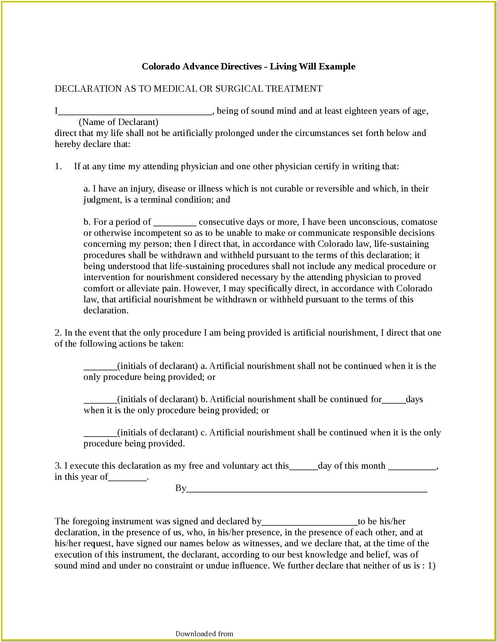 Advance Healthcare Directive Form 3 1