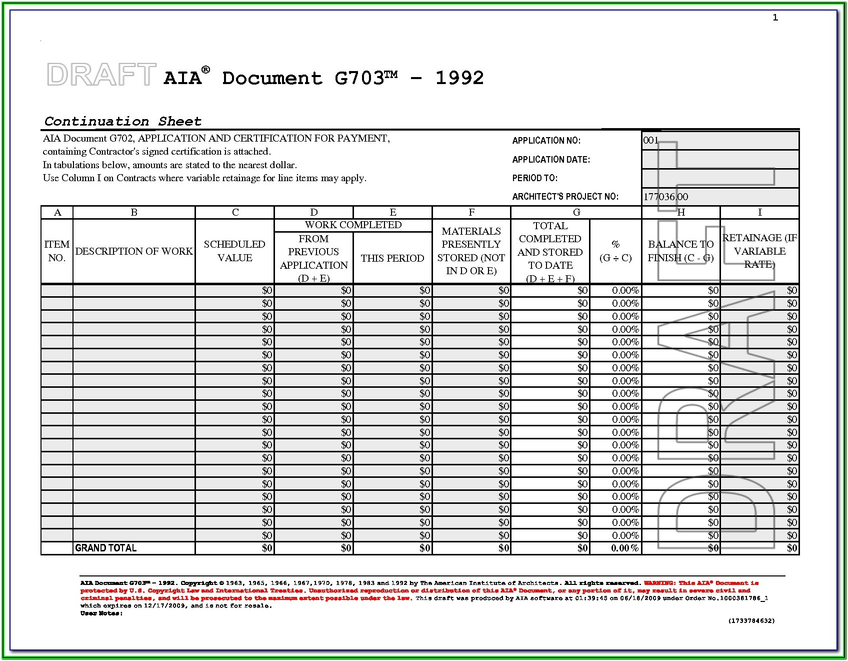 Aia Form G706