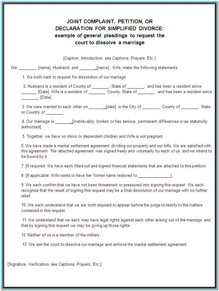 Application Form For Divorce In Uk