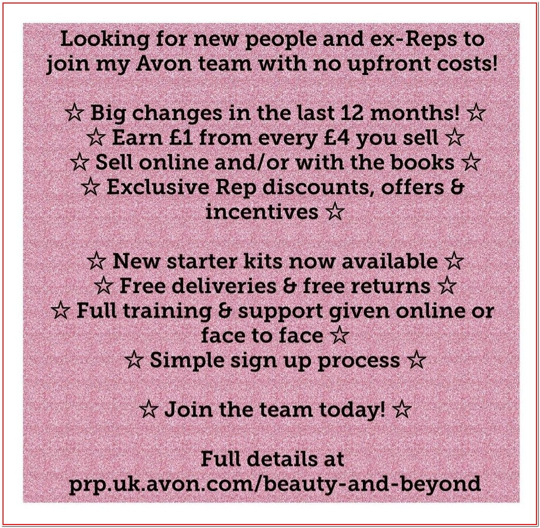Avon Job Application Online