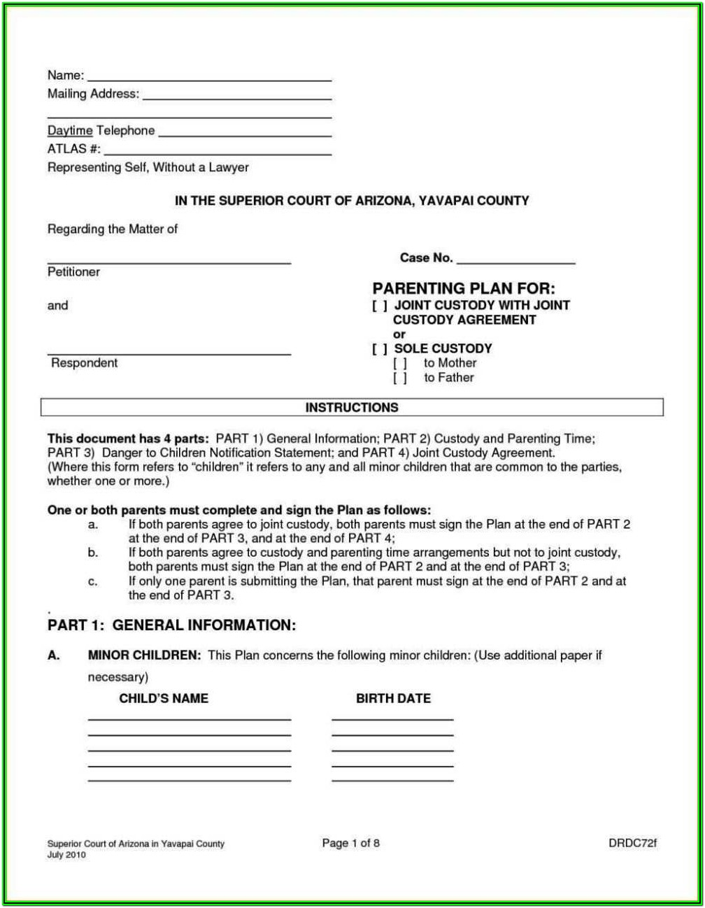 Child Custody Forms Colorado