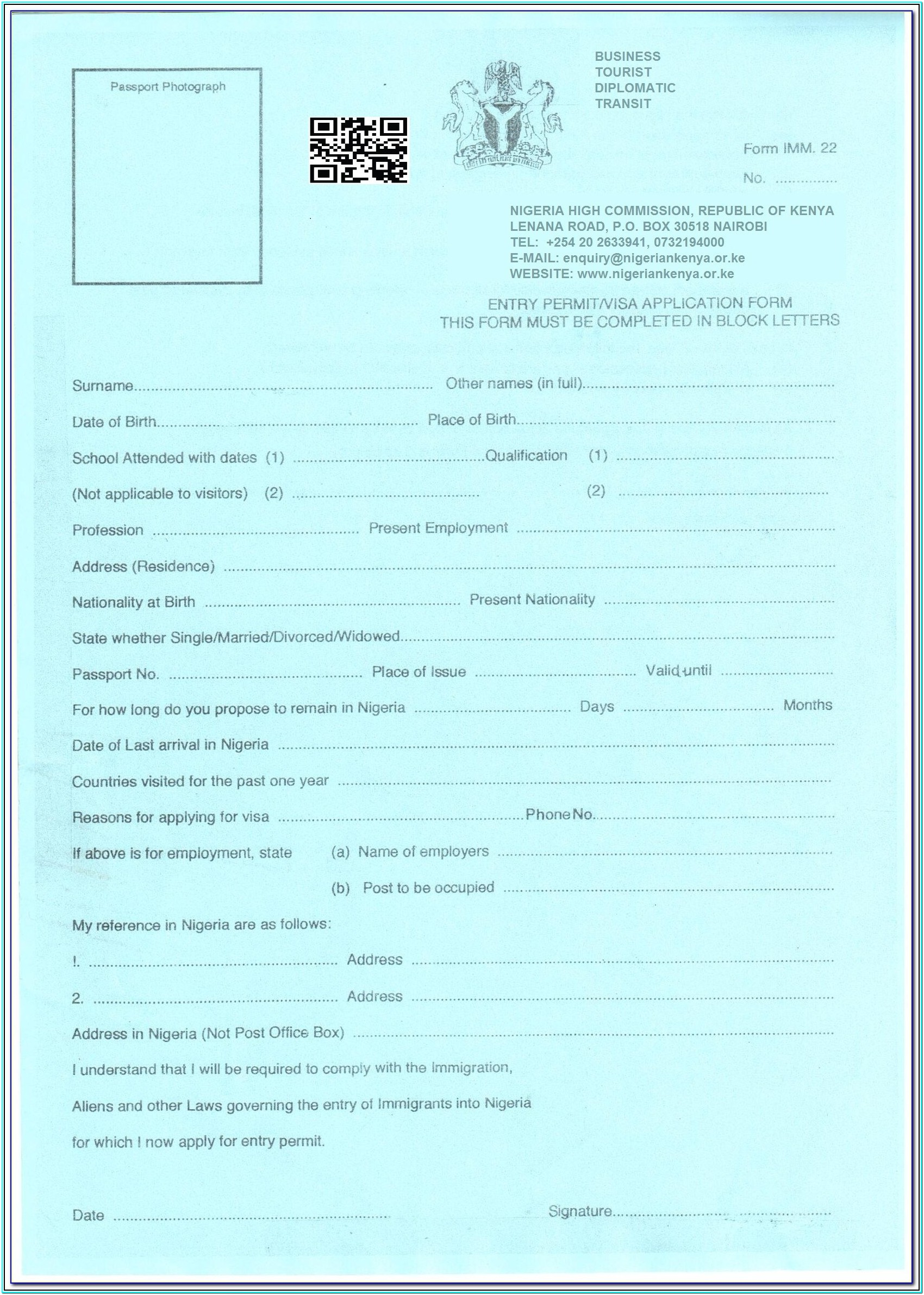 Chinese Visa Application Forms