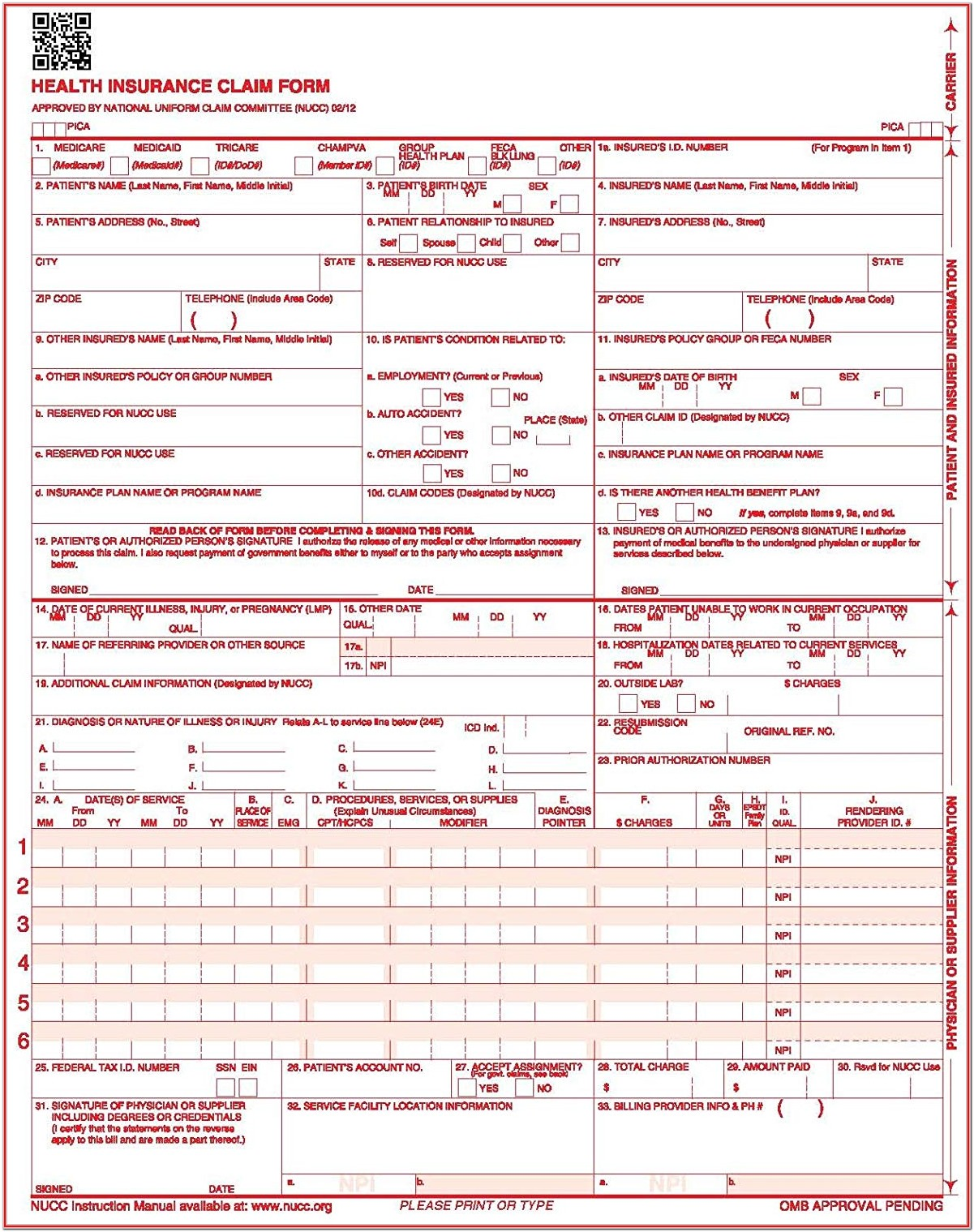 Cms 1500 Forms