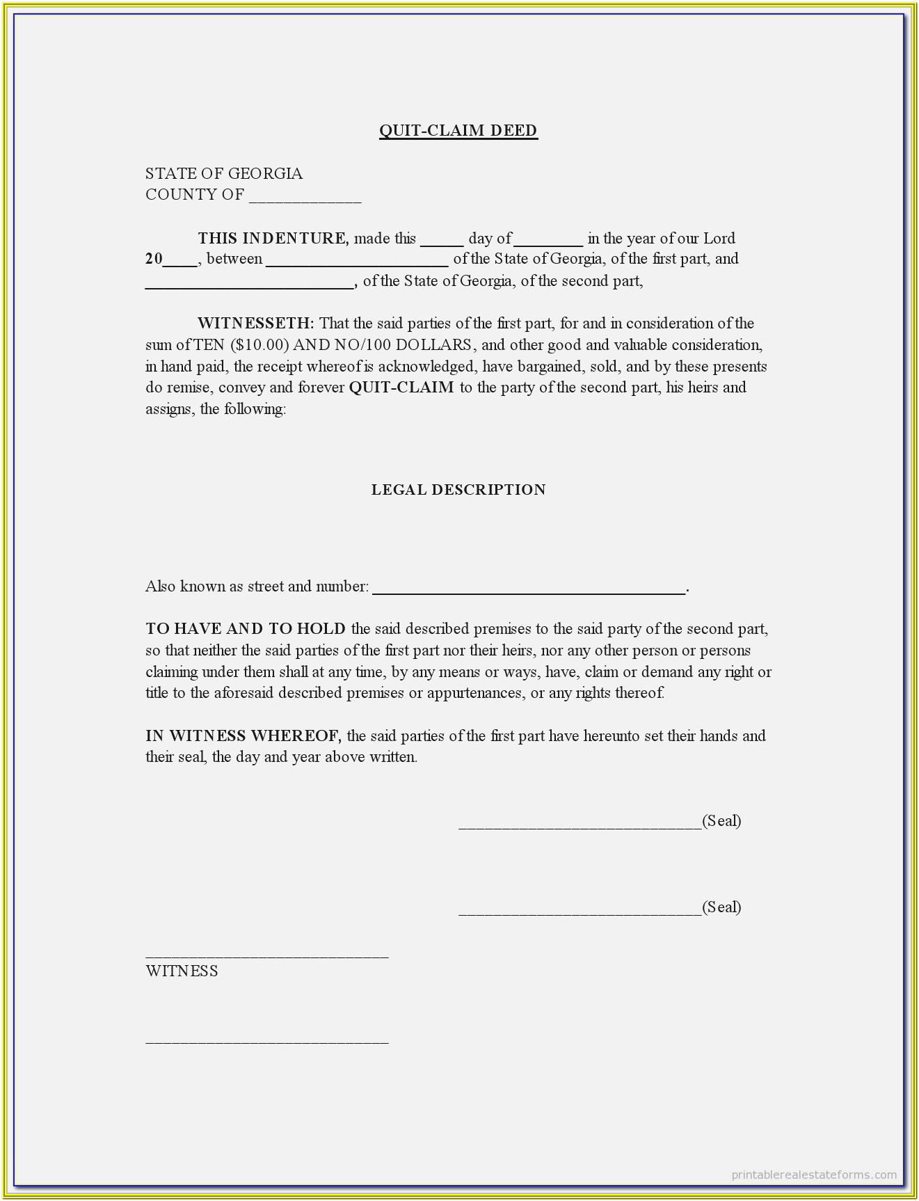 Deed Of Conveyance Form Philippines