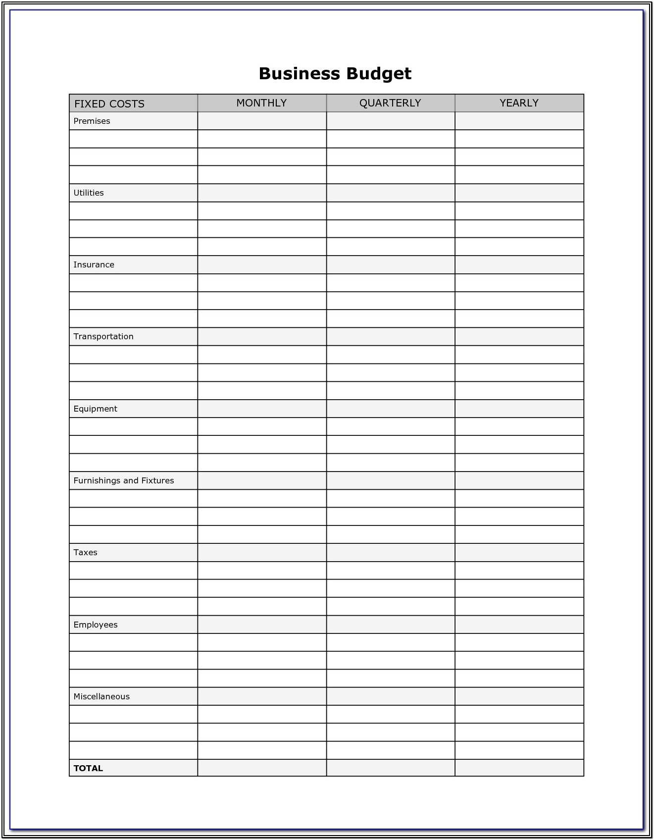 Downloadable Business Forms