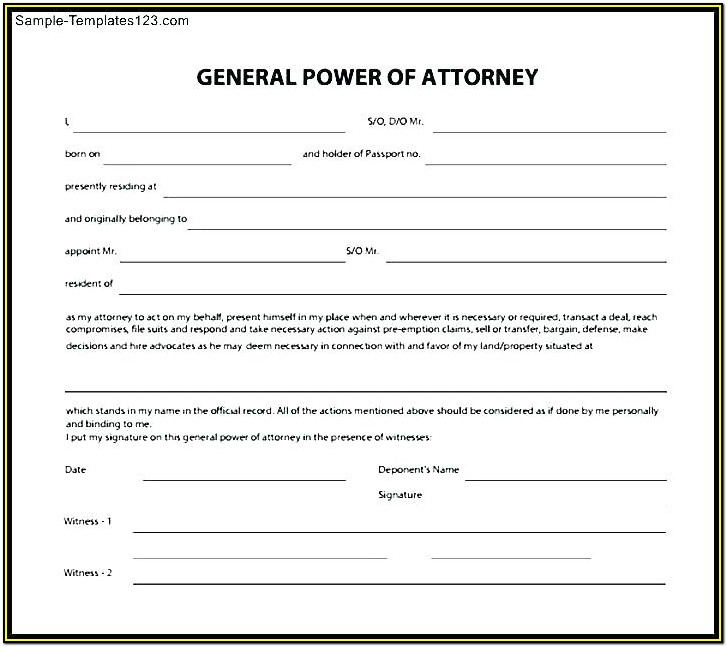 Durable Power Of Attorney Form Arizona Free