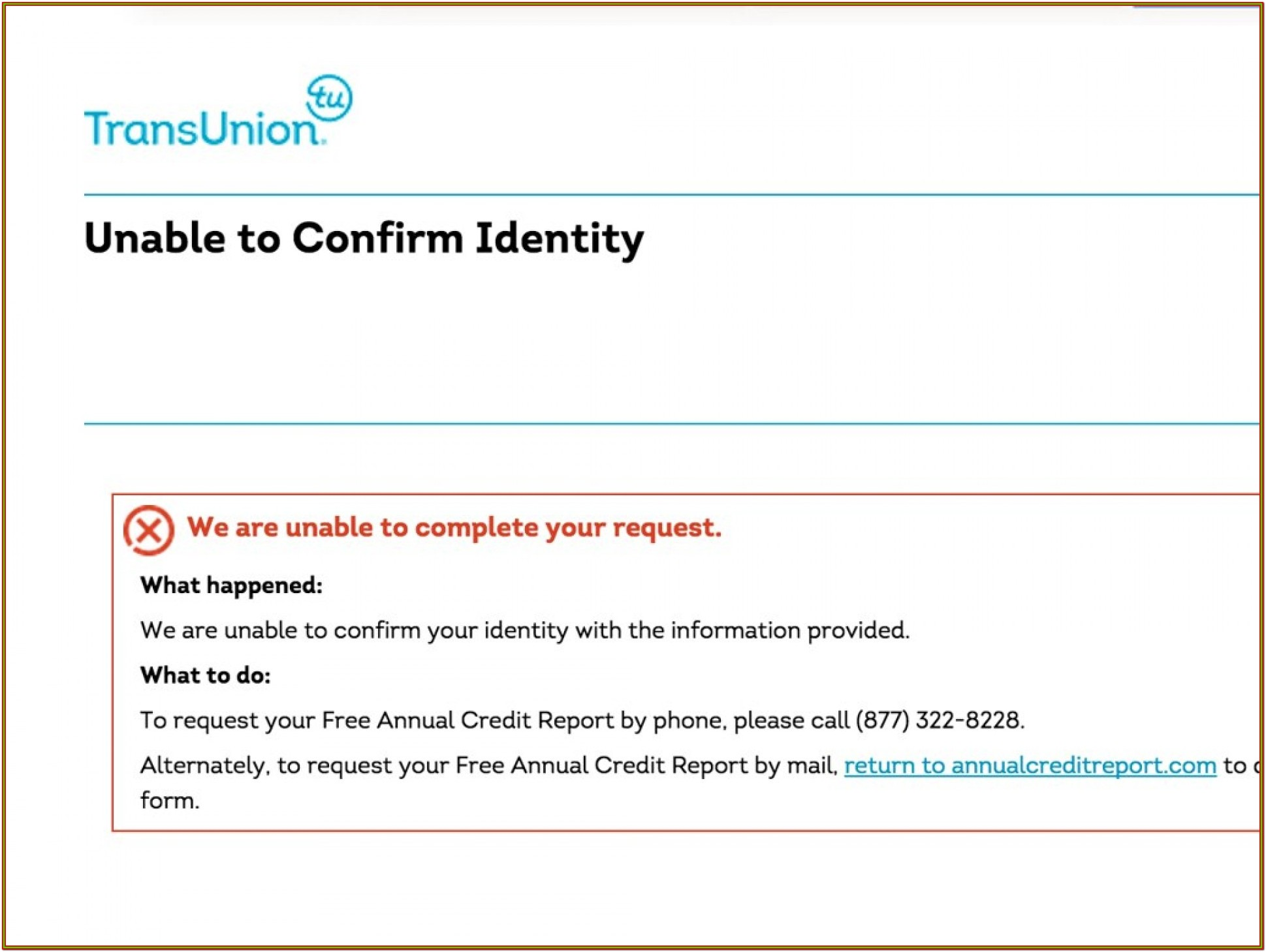 Experian Credit Report Form Pdf