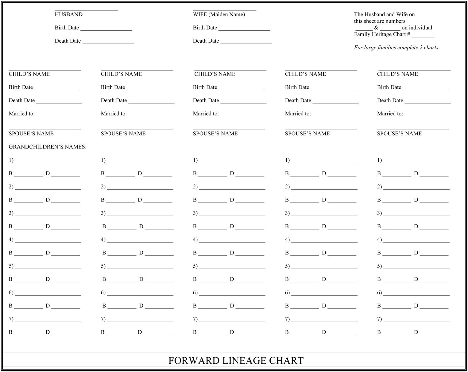 Family Tree Genealogy Forms