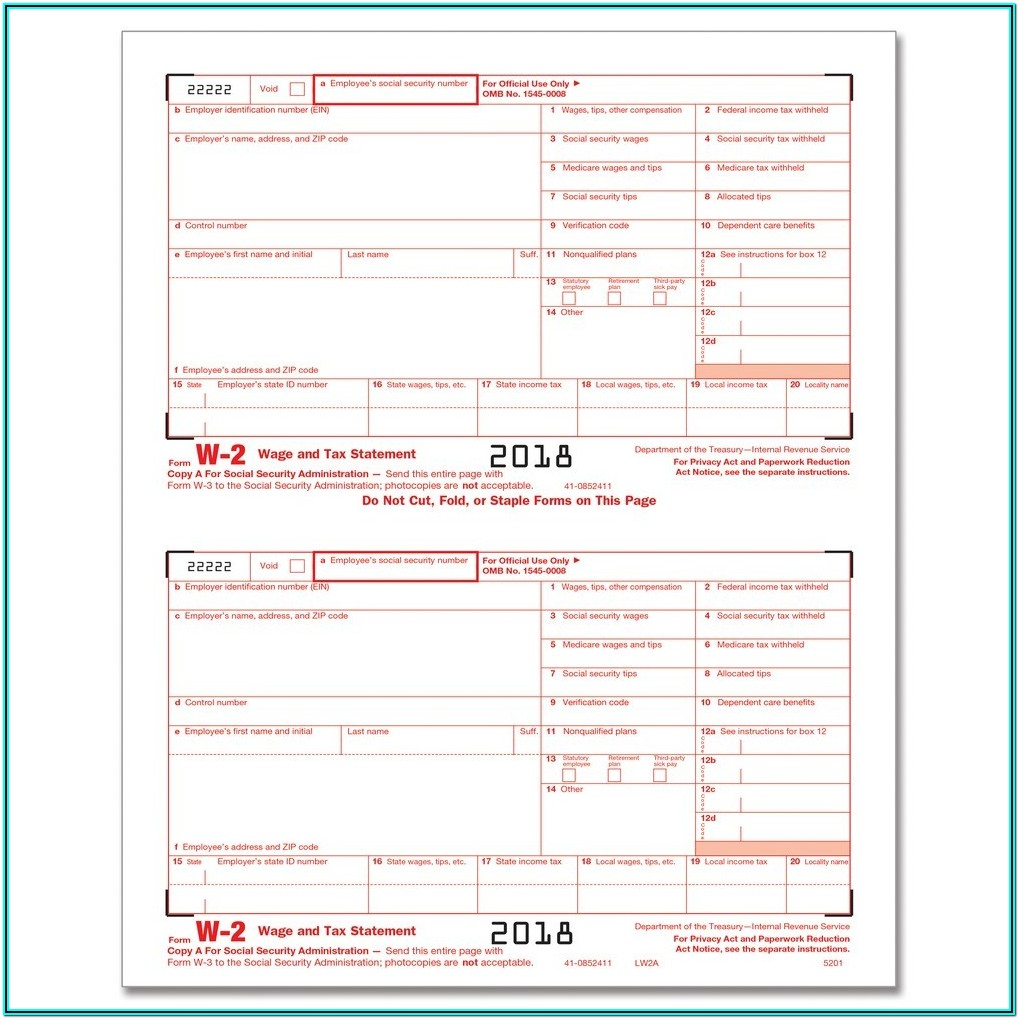 Fed Irs Forms
