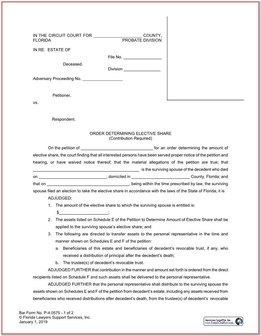 Florida Bar Probate Forms