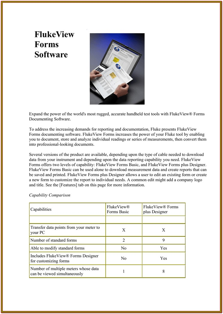 Flukeview Forms Software