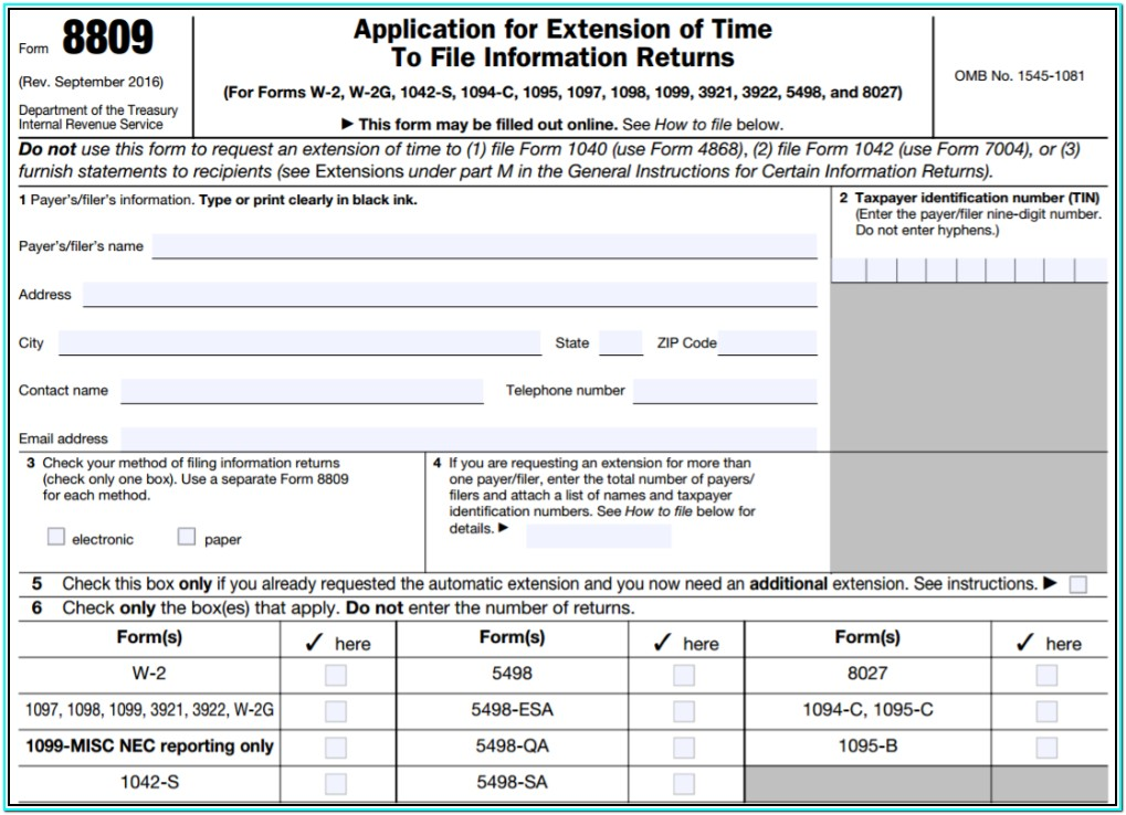 Form 1099 Filing Date