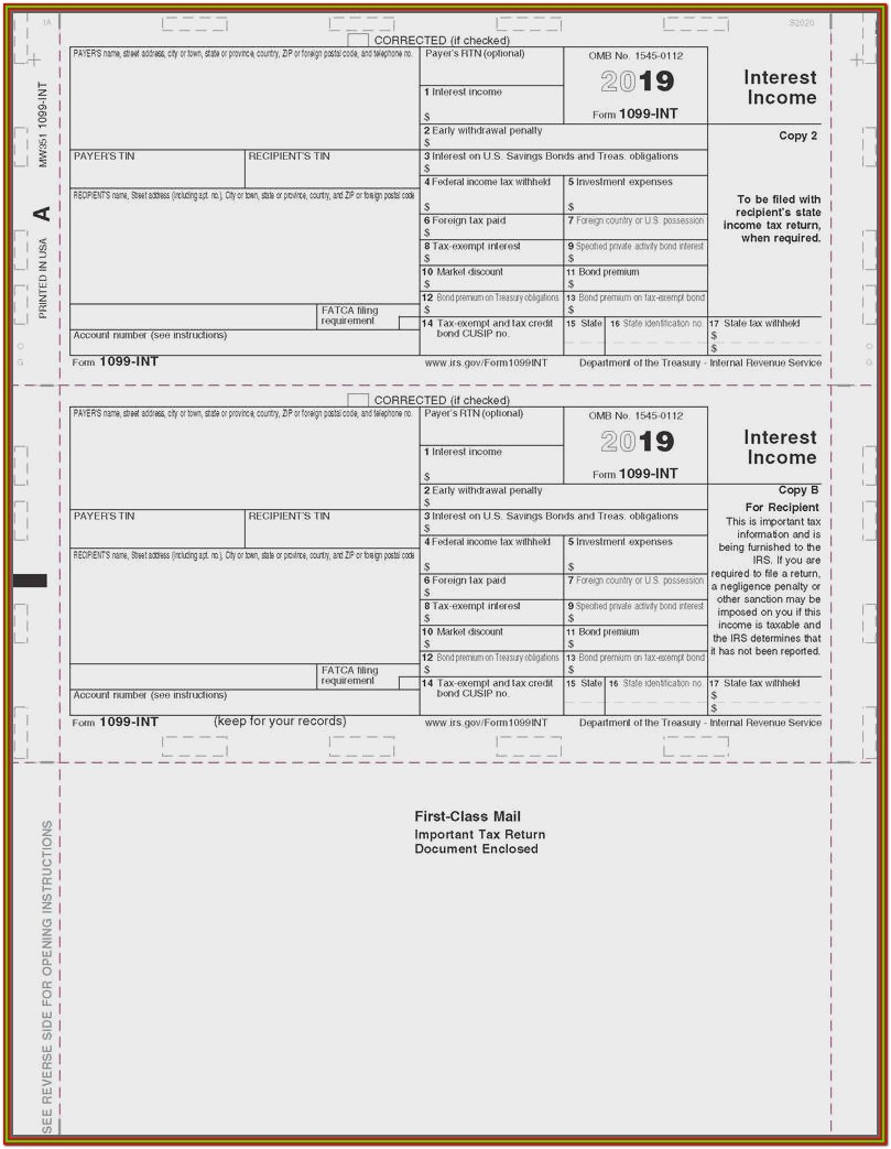 Form 1099 Int 2013